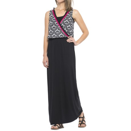 Hatley Maxi Dress - Sleeveless (For Women) in Black/White