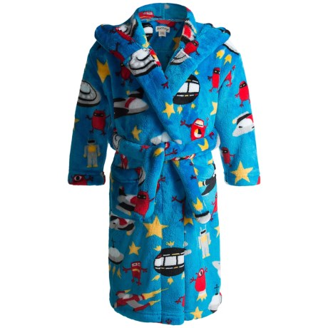 Hatley Microfleece Cozy Robe (For Kids) in Space Ships