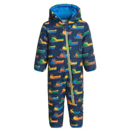 Hatley Mini Winter Puffer Snowsuit - Insulated (For Infants and Toddlers) in Vintage Snowmobiles - Closeouts