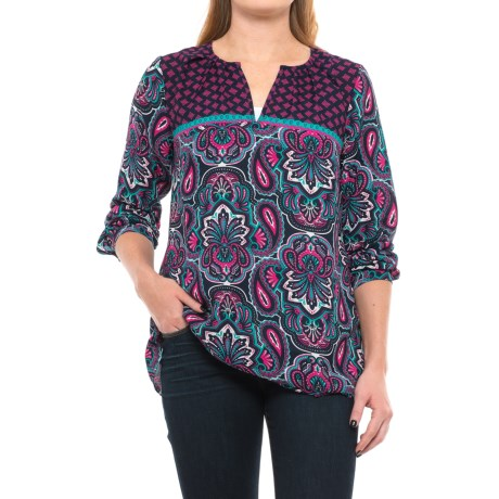 Hatley Ornate Paisley Blouse - Long Sleeve (For Women) in Ornate Paisley