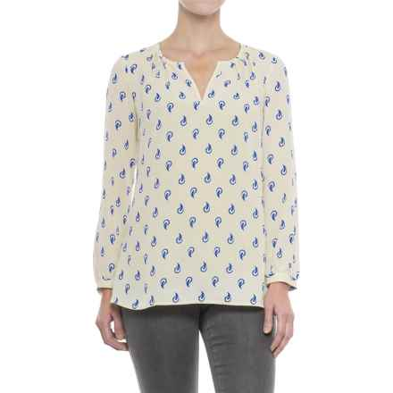 Hatley Print Chiffon Shirt - Long Sleeve (For Women) in Polka Dot Paisley - Closeouts