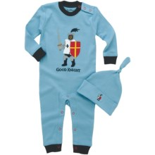 Hatley Printed Coverall with Hat (For Infants) in Knights & Dragons - Closeouts