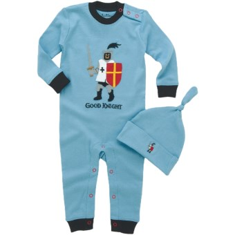 Hatley Printed Coverall with Hat (For Infants) in Knights & Dragons
