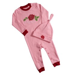 Hatley Printed Coverall with Hat (For Infants) in R Is For Rocket