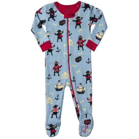 Hatley Printed Footed Coveralls (For Infants) in Pirate Dogs