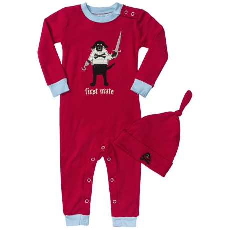 Hatley Printed Romper with Hat (For Infants) in First Mate