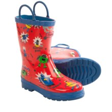 Hatley Printed Rubber Boots - Waterproof (For Little Kids) in Robots - Closeouts