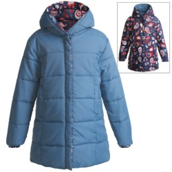 Hatley Reversible Puff Jacket (For Girls) in Paisley Birds
