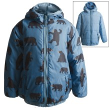 Hatley Reversible Puff Jacket - Insulated (For Boys) in Black Bear - Closeouts