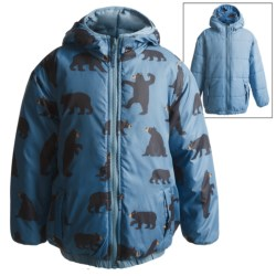 Hatley Reversible Puff Jacket - Insulated (For Boys) in Black Bear