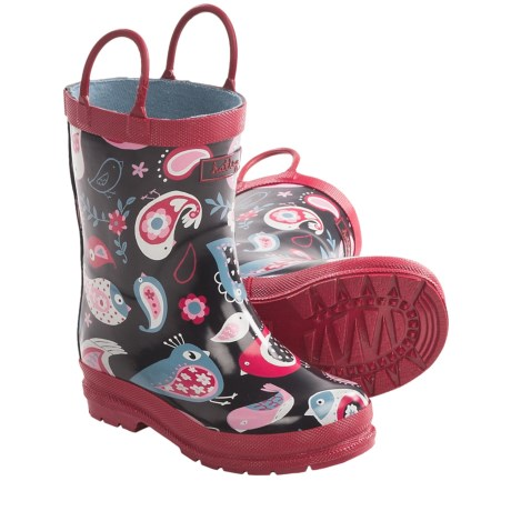 Hatley Rubber Boots - Waterproof (For Kids) in Paisley Bird