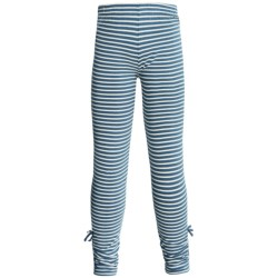 Hatley Ruched Leggings - Stretch Cotton (For Girls) in Blue Heron