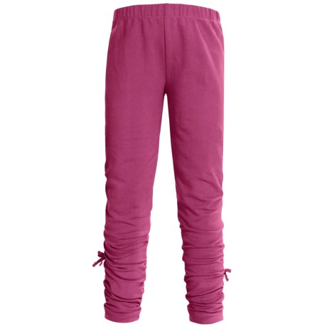 Hatley Ruched Leggings - Stretch Cotton (For Girls) in Brilliant Fuchsia