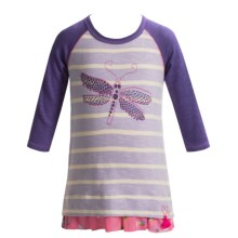 Hatley Ruffled Hem Shirt - 3/4 Sleeve (For Toddler Girls) in Dragonflies - Closeouts