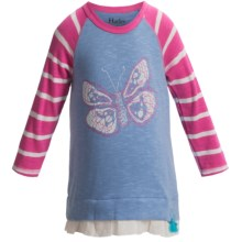 Hatley Ruffled Hem Shirt - 3/4 Sleeve (For Toddler Girls) in Graphic Butterflies - Closeouts