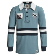Hatley Rugby Shirt - Long Sleeve (For Boys) in Blue Labs - Closeouts