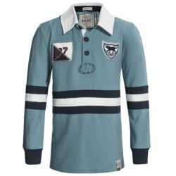 Hatley Rugby Shirt - Long Sleeve (For Boys) in Blue Labs