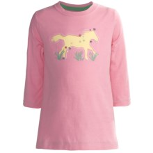 Hatley Running Horses Graphic T-Shirt - 3/4 Sleeve (For Girls) in Running Horses - Closeouts