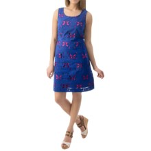 Hatley Shift Dress - Sleeveless (For Women) in Blue Butterfly - Closeouts