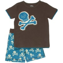 Hatley Shirt and Short Play Set - 2-Piece, Short Sleeve (For Kids) in Skulls - Closeouts