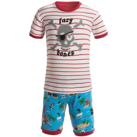 Hatley Short Pajamas - Short Sleeve (For Kids) in Treasure Island Lazy Bones