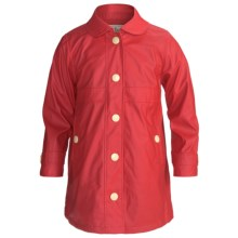 Hatley Splash Jacket - Terry Lined (For Girls) in Red - Closeouts