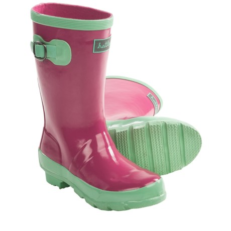 Hatley Splash Rubber Rain Boots (For Kids and Youth Girls) in Pink/Green