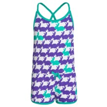 Hatley Sporty Romper - Cross Straps (For Little Girls) in Graphic Bunnies - Closeouts