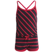 Hatley Sporty Romper - Cross Straps (For Little Girls) in Nautical Stripes - Closeouts