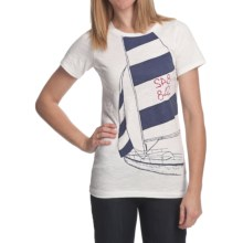 Hatley Starboard Tack T-Shirt - Slub Cotton, Short Sleeve (For in Sailing - Closeouts