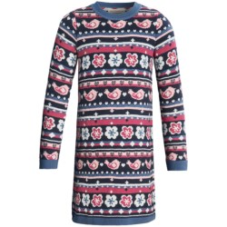 Hatley Sweater-Knit Dress - Long Sleeve (For Girls) in Cable Knit Navy