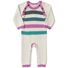 Hatley Sweater-Knit Romper - Long Sleeve (For Infants) in Stripes - Closeouts