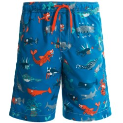 Hatley Swim Trunks - UPF 50, Built-In Briefs (For Boys) in Sea Creatures