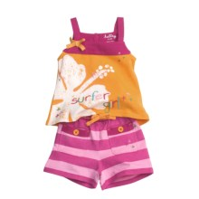 Hatley Tank Top and Shorts Set - 2-Piece (For Infants) in Surfer Girl - Closeouts