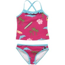 Hatley Tankini Swimsuit - 2-Piece (For Little Girls) in Surfer Girl - Closeouts