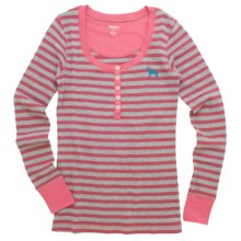 Hatley Thermal Henley Shirt - Long Sleeve (For Women) in Pink Labs - Closeouts