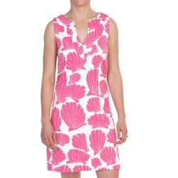 Hatley Woven Notch Neck Dress - Sleeveless (For Women) in Pink Hidden Shells