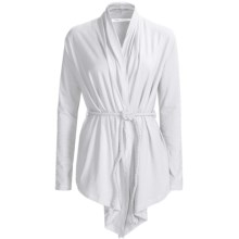 Hatley Wrap Cover-Up - Long Sleeve (For Women) in White - Closeouts