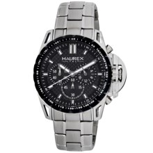 Haurex Talento-R Chronograph Watch - Stainless Steel in Black/Stainless Steel - Closeouts