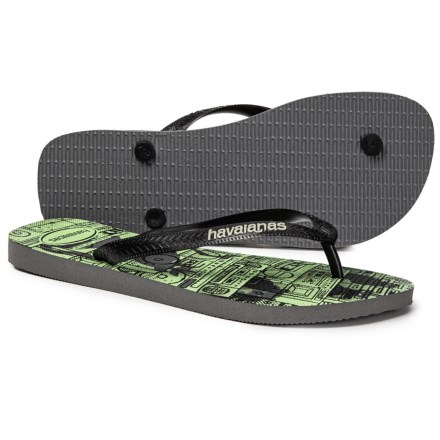 f07abb6d0130 Havaianas 4 Nite Flip-Flops (For Men) in Black Fiesta - Closeouts