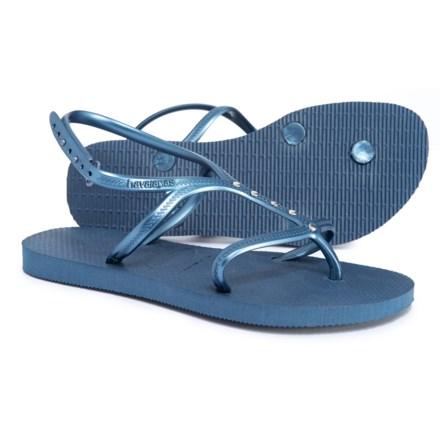 326e4a7920f7f3 Havaianas Allure Maxi Flip-Flops (For Women) in Indigo Blue