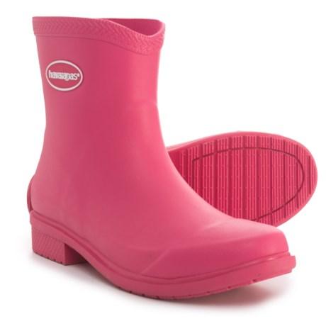 Havaianas Galochas Low Matte Rain Boots - Waterproof (For Women) in Rose