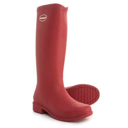Havaianas Galochas Tall Matte Rain Boots (For Women) in Ruby Red - Closeouts