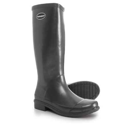 Havaianas Galochas Tall Metallic Rain Boots (For Women) in Dark Grey Metallic - Closeouts