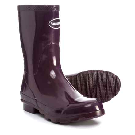 Havaianas Helios Mid Rain Boots (For Women) in Aubergine - Closeouts