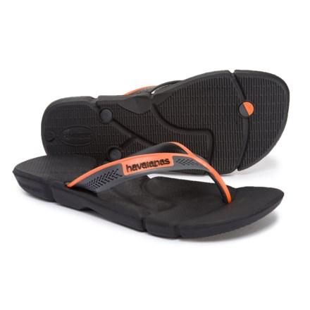 9b5ff15fdf7f Havaianas Power Flip-Flops (For Men) in Black Neon Orange - Closeouts