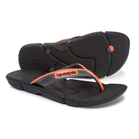 7ffd3cfca Havaianas Power Flip-Flops (For Men) in Black Neon Orange