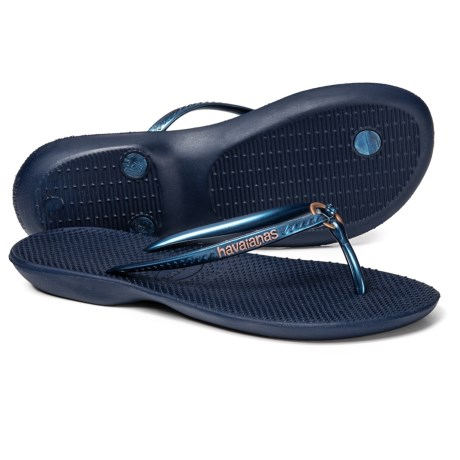 b9cfdb07f Havaianas Ring Flip-Flops (For Women) in Navy Blue Navy Blue. Tap to expand
