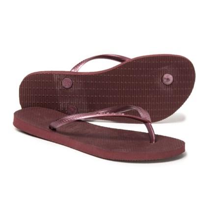 a37bcbaf1f5 Havaianas Slim Flip-Flops (For Women) in Grape Wine