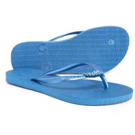 834bd23fd76fa3 Havaianas Slim Lux Flip-Flops (For Women) in Light Blue